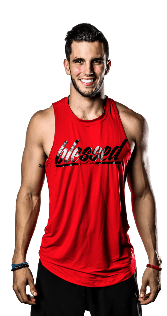 Men's BLESSED Script Tank
