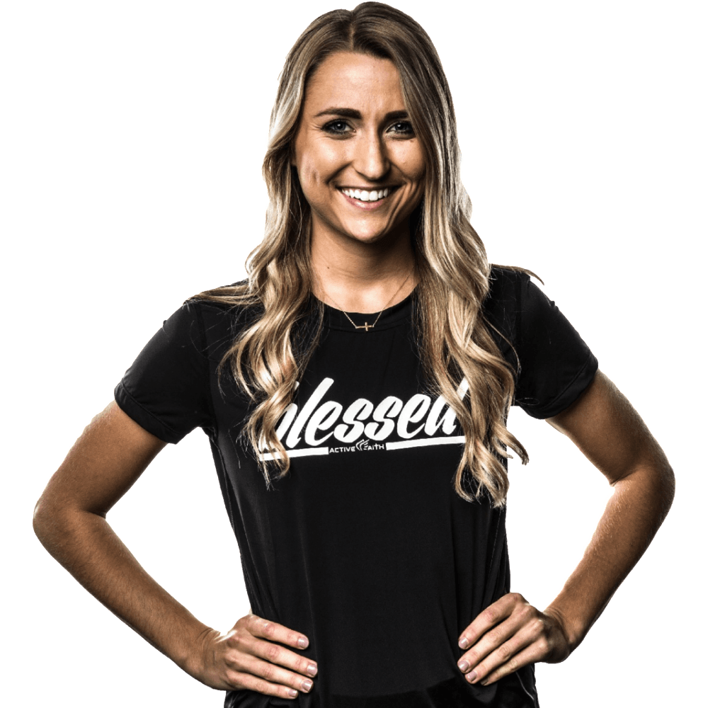 Women's BLESSED Script Performance Shirt
