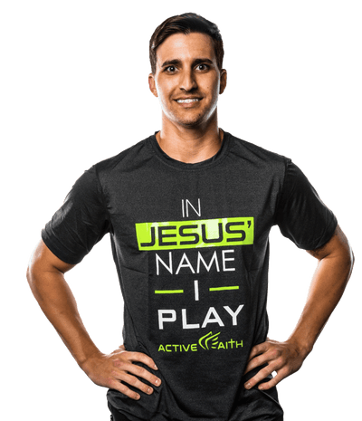 Men's In Jesus' Name I Play Performance Shirt