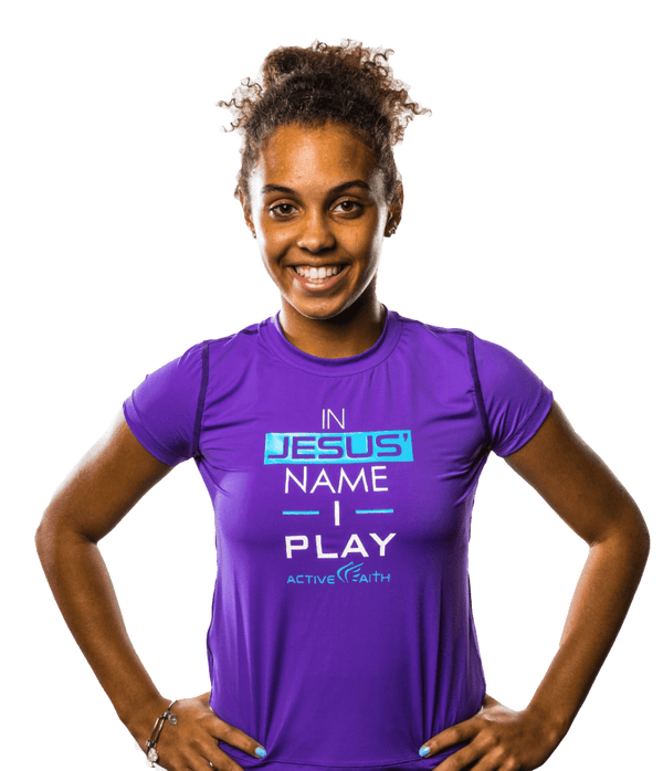 Youth Girls' In Jesus Name I Play Performance Shirt