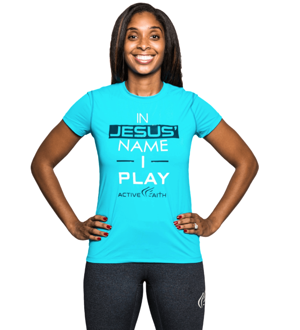 Women's In Jesus' Name I Play Performance Shirt