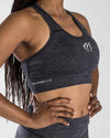 Active Faith Sports Bra | Charcoal