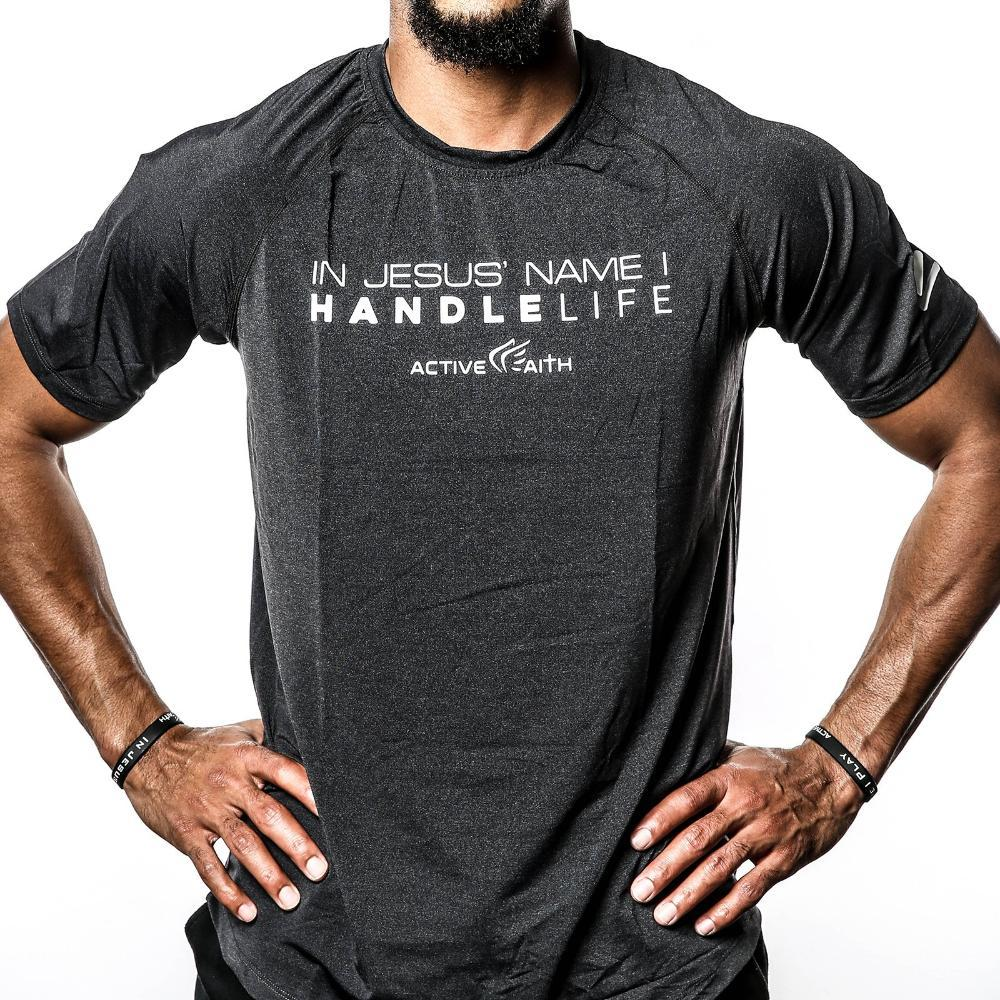 In Jesus' Name I HandleLife Performance Shirt