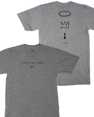 Grey King of All Kings Lifestyle Text Tee | Active Faith Sports