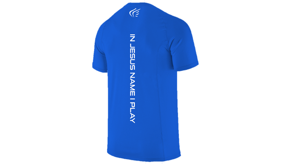 Logo Performance Shirt Blue/White