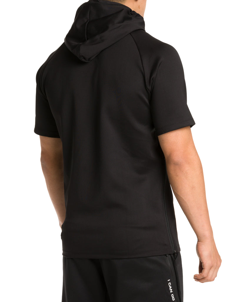 Men's Short Sleeve Logo Performance Hoodie
