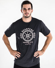 Men's Iron Sharpens Iron Performance Shirt in Charcoal Black Color