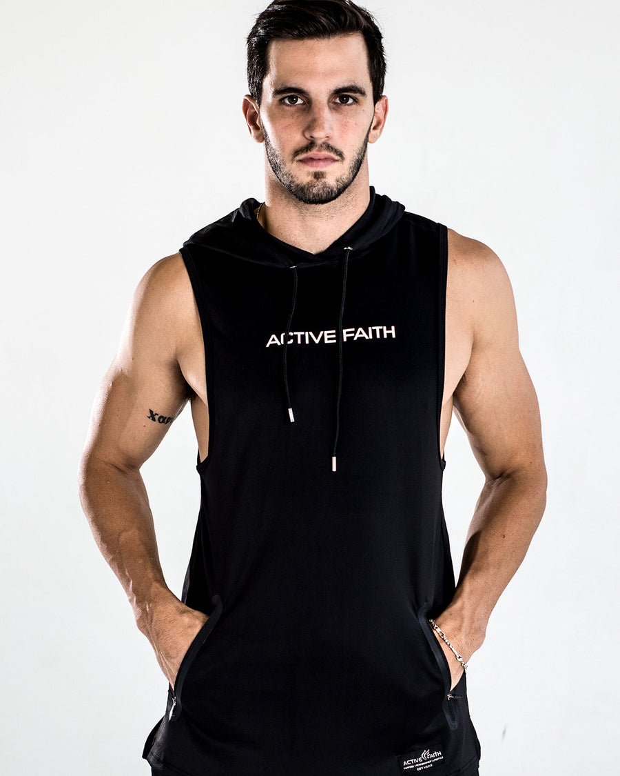 Men's Active Faith Performance Tech Sleeveless Hoodie