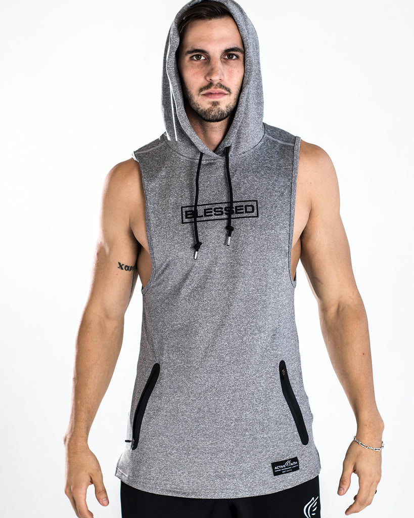 Men's Blessed Performance Tech Sleeveless Hoodie