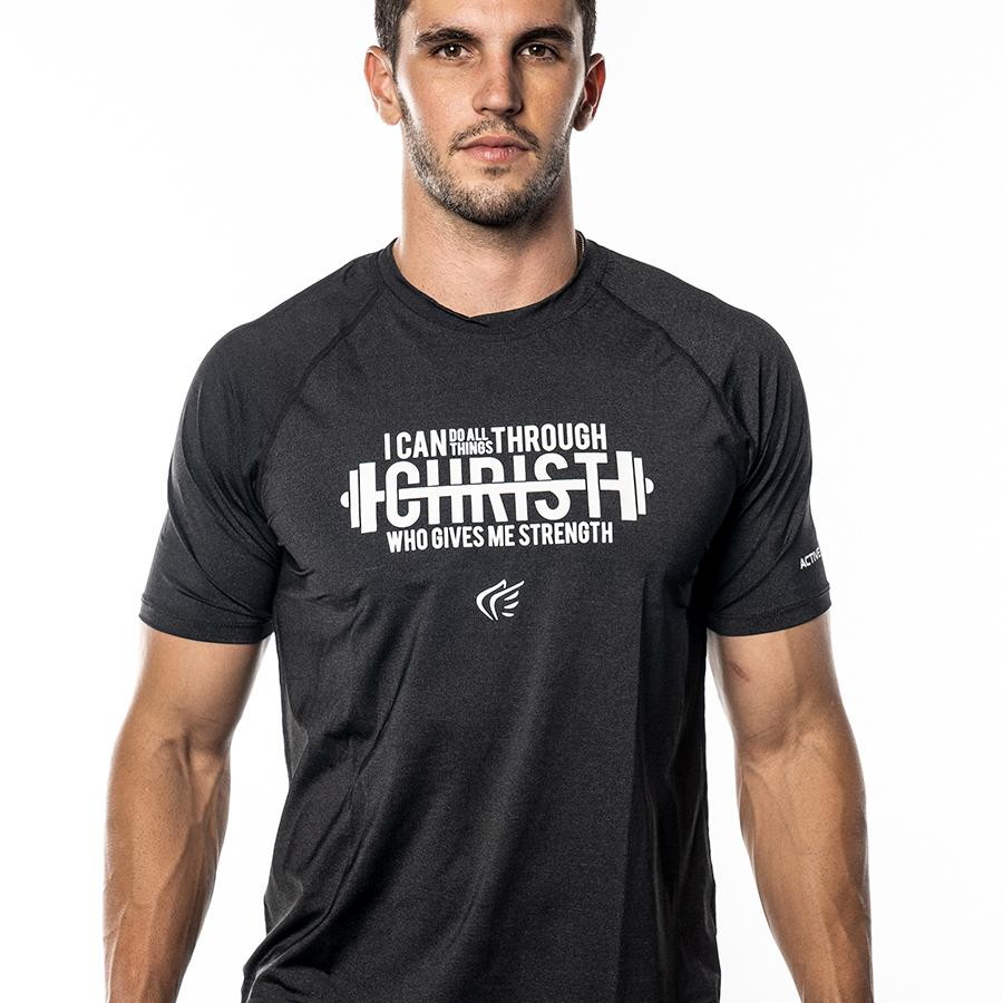 Men's I Can Weight Lifting Performance Shirt