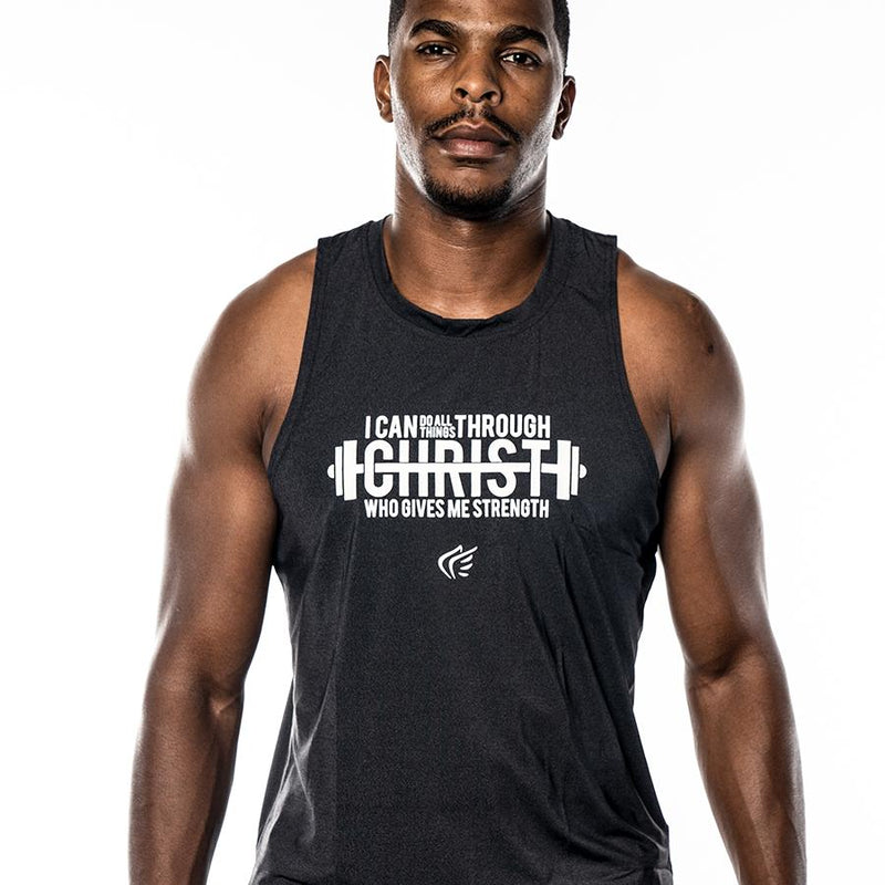 Men's I Can Weight Lifting Performance Tank