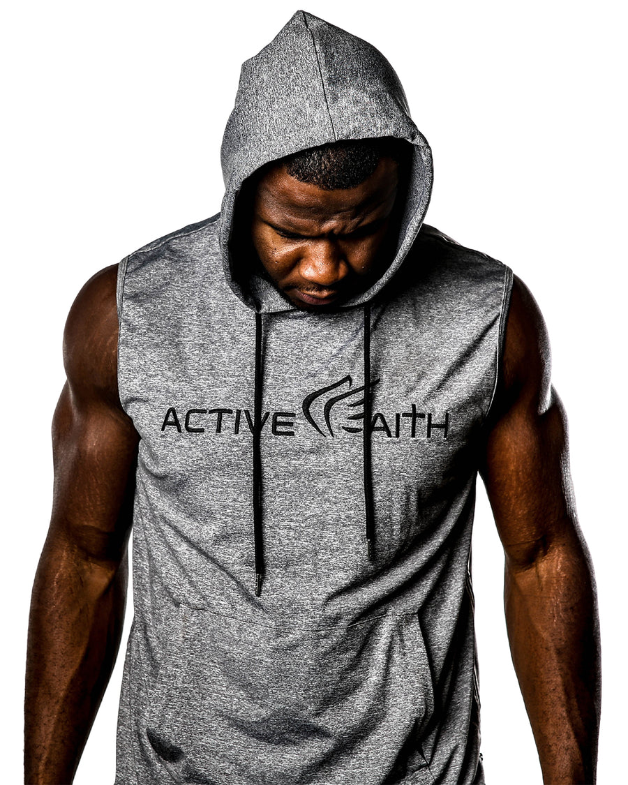 Men's Active Faith Sleeveless Performance Hoodie
