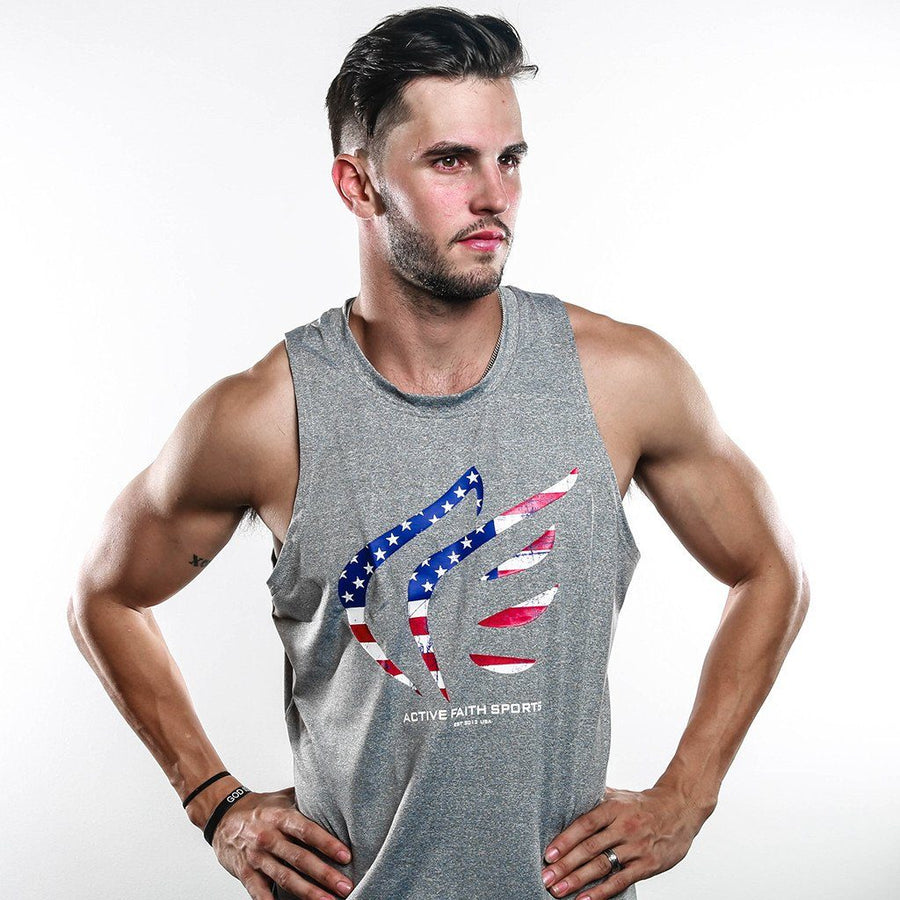 Men's USA Flag Performance Tank