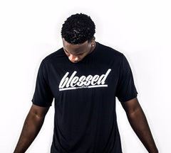 Men's BLESSED Script Performance Shirt