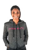 Women's Fleece Logo Zip Up Hoodie