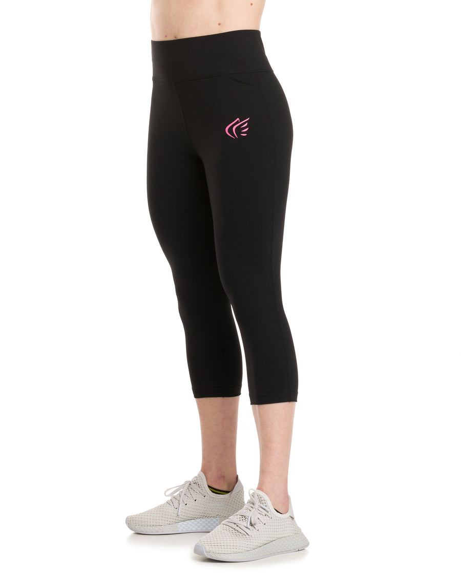 ANGEL Capri Tights Black/Pink