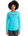 Women's Faith Over Fear Performance Longsleeve Shirt