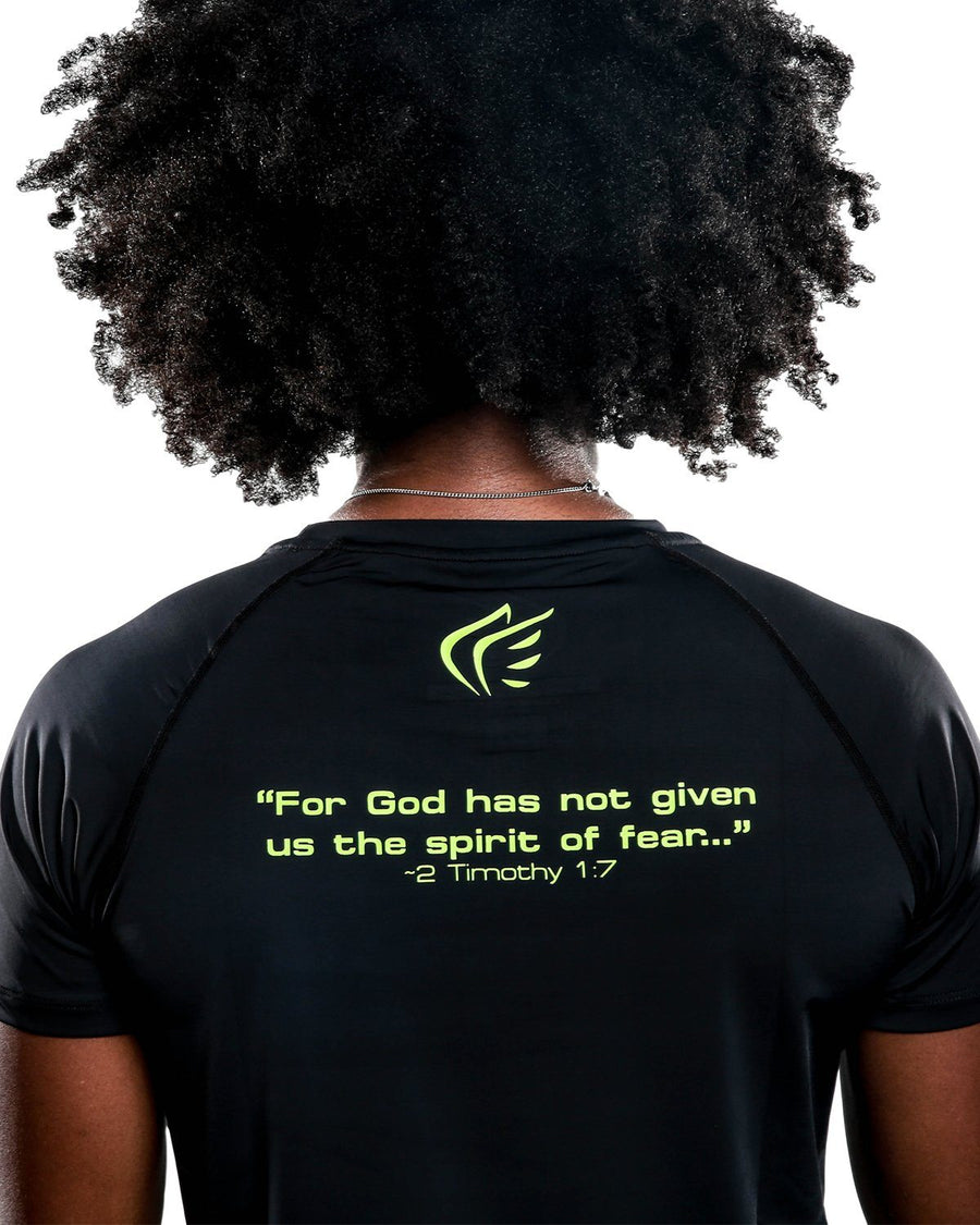 Faith Over Fear Performance Shirt for Women, Black Volt