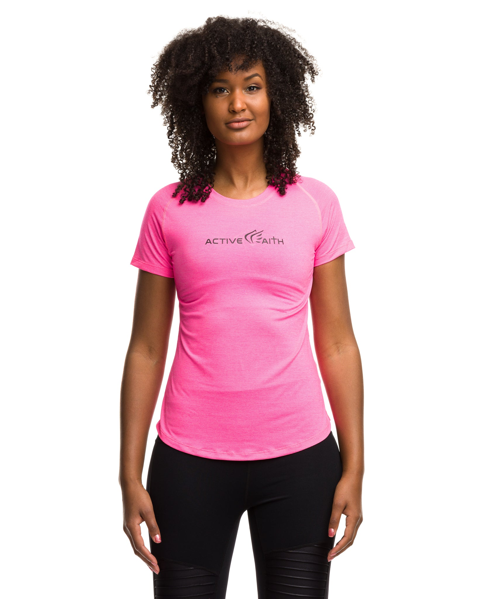 Pink Black Performance Shirt for Women - Active Faith Sports