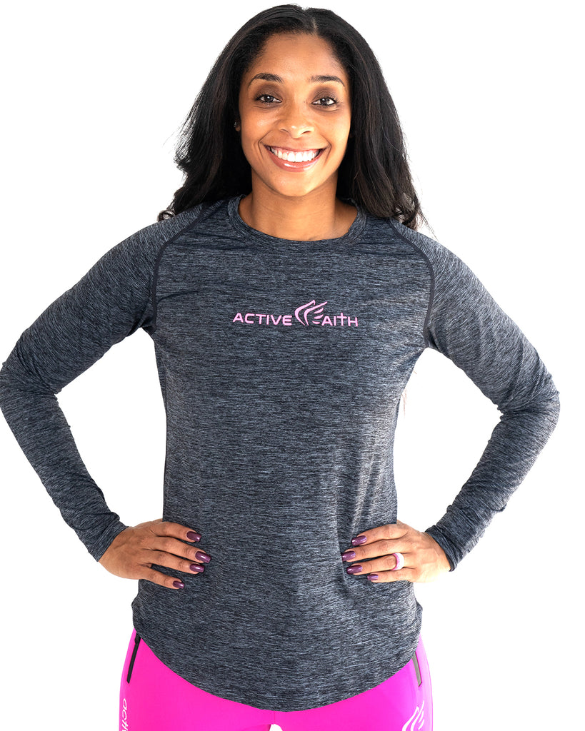 Women's Active Faith Logo Performance Longsleeve Shirt