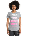 "Women's ""Pray Repeat"" Word Shirt"