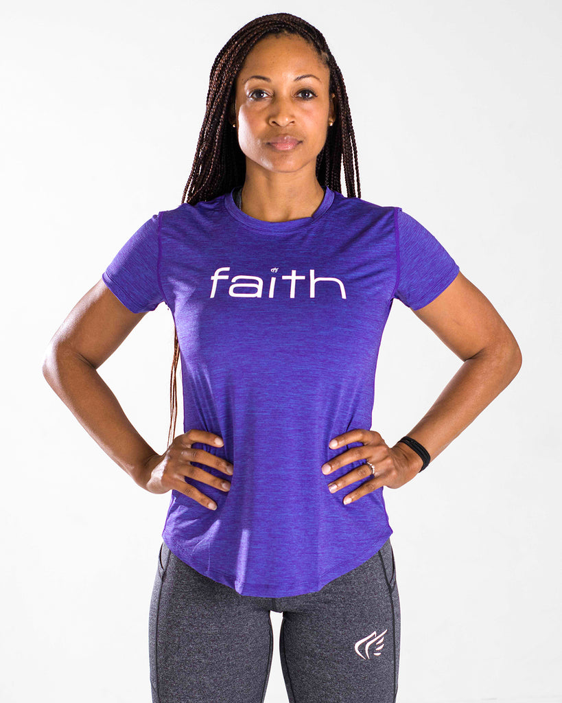 Women's Horizontal Faith Performance Shirt
