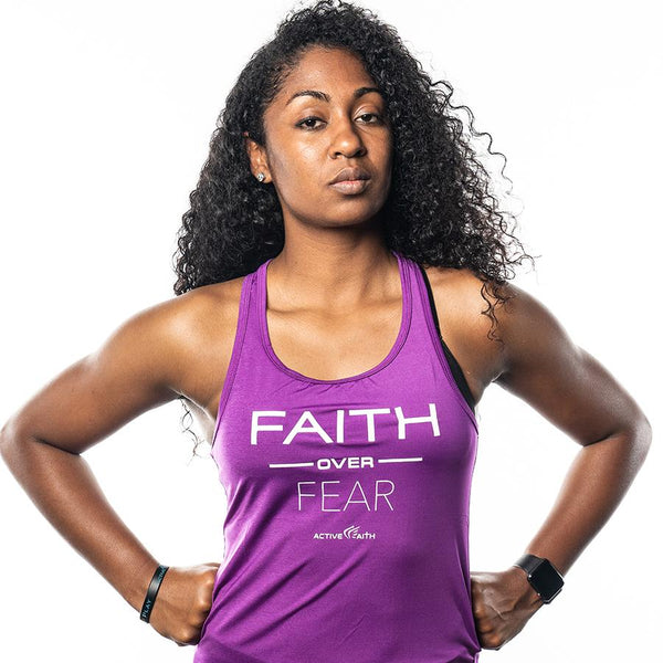 Women's Faith Over Fear Performance Tank