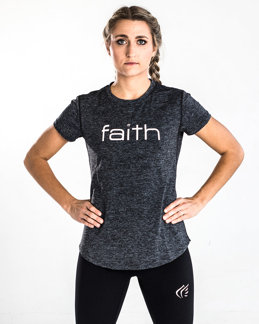 Active Faith Logo Performance Shirt, Pink Black