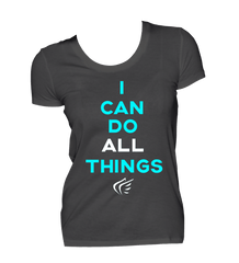 Youth Girls' I Can Do All Things EasyDri Shirt