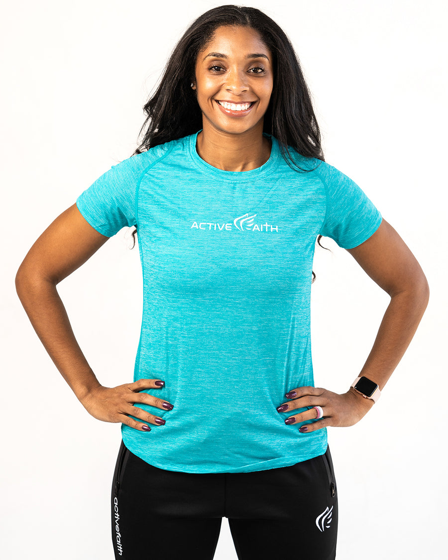 Women's Logo Performance Shirt - Active Faith Sports