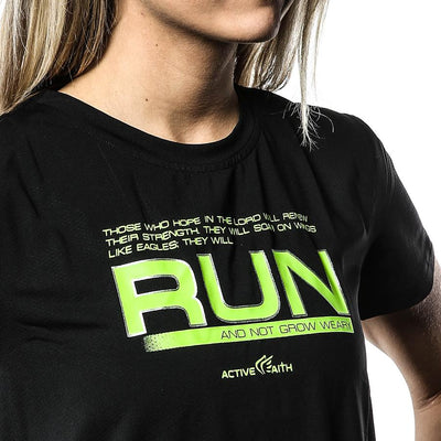 Women's Run And Not Grow Weary EasyDri Shirt