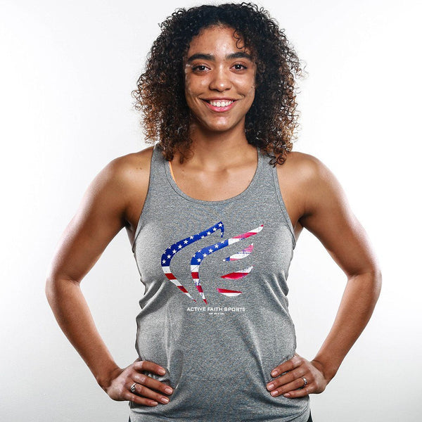 Women's USA Flag Performance Tank