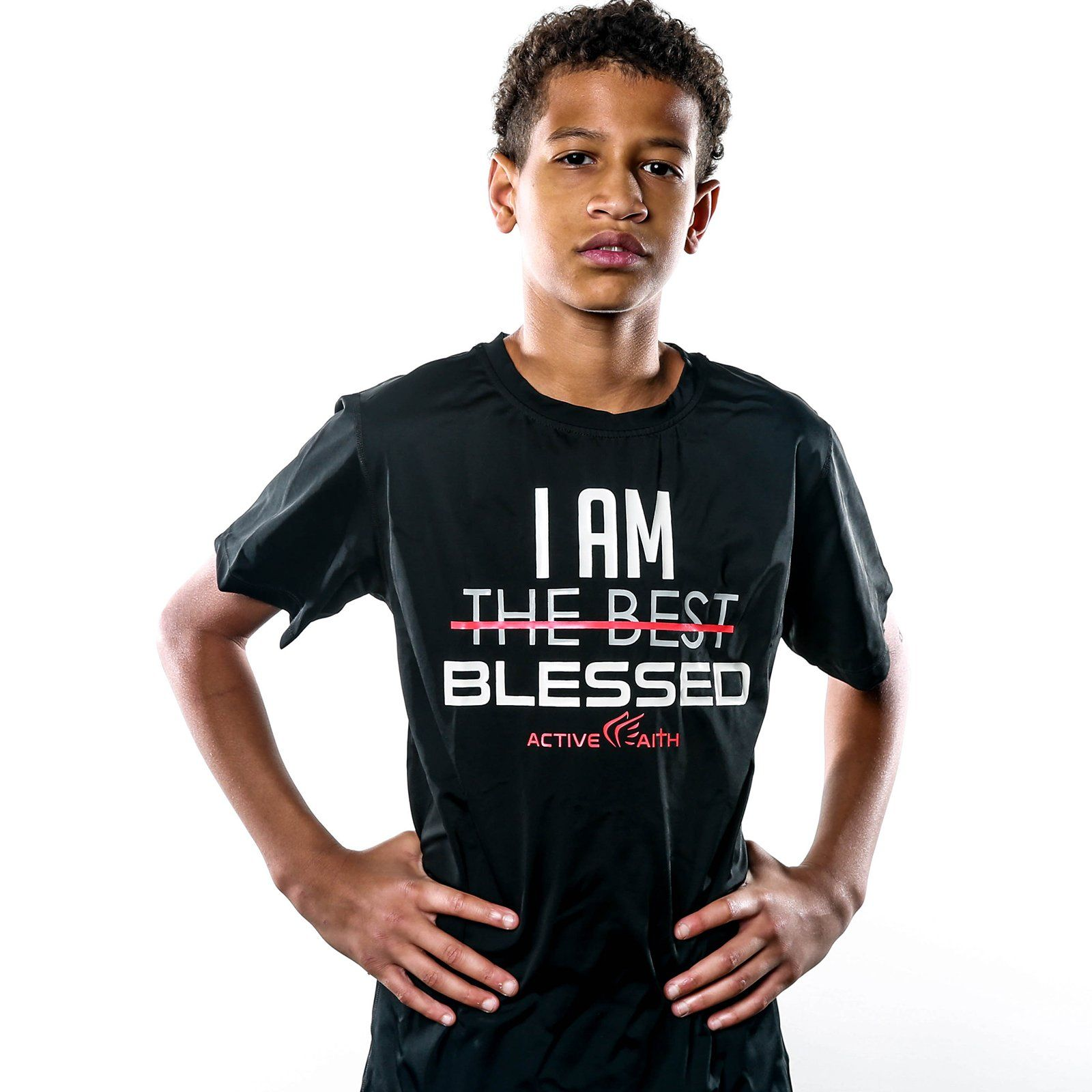 Youth I Am BLESSED EasyDri Shirt