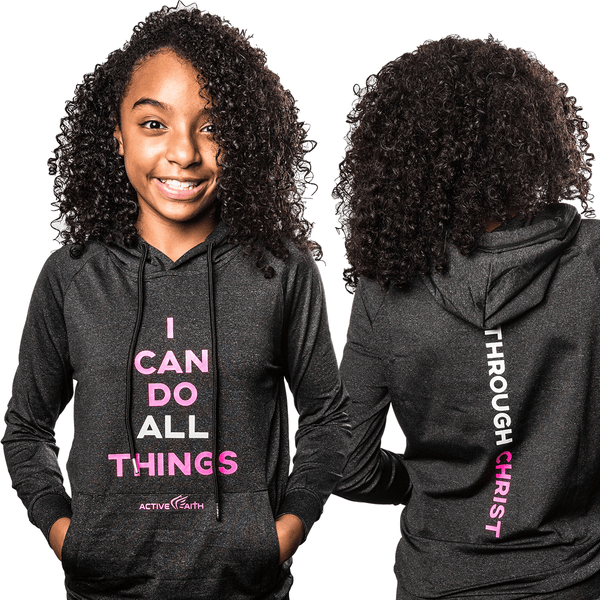 Youth Girls' I Can Performance Hoodie