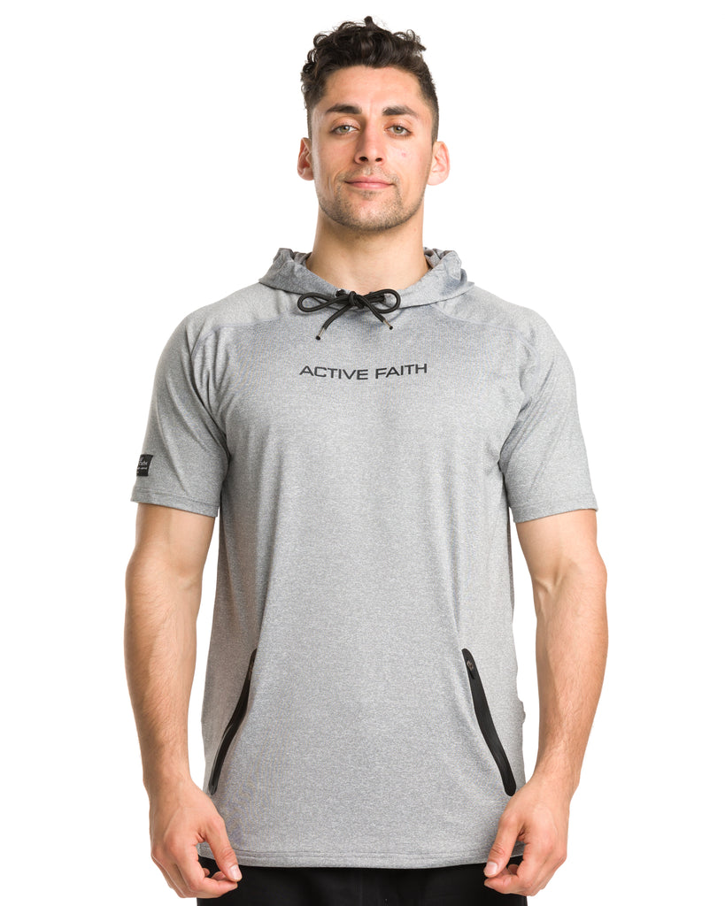 Men's Active Faith Performance Tech Short Sleeve Hoodie