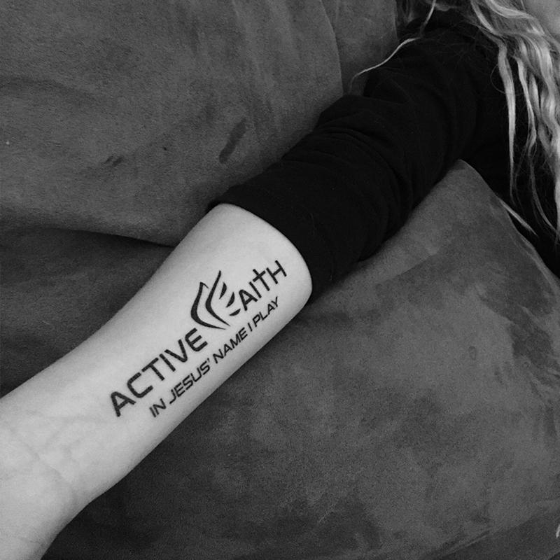 Active Faith Temporary Tattoos