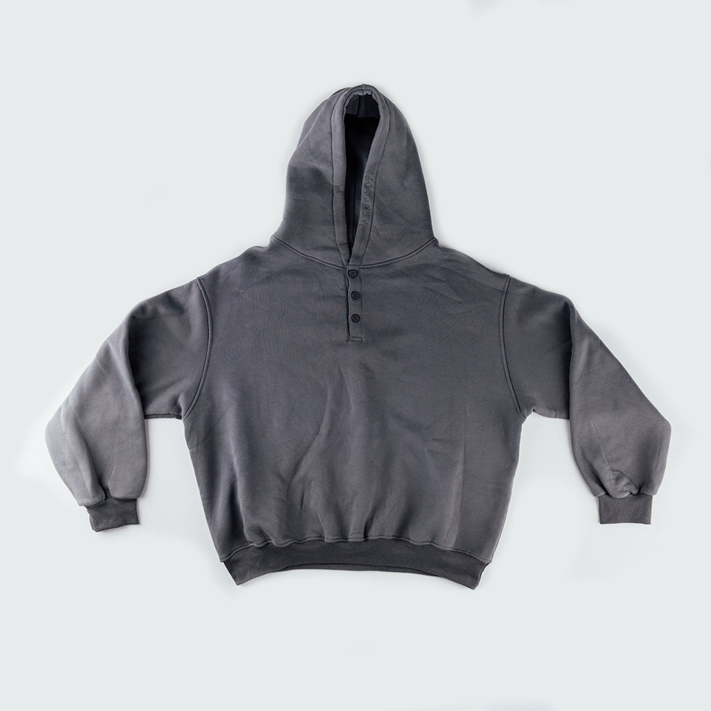 lounge button hood - charcoal