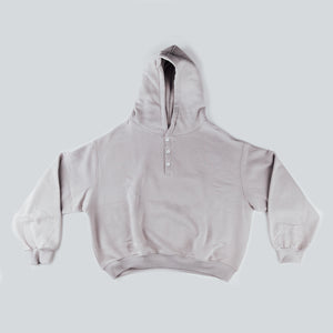 lounge button hood - stone