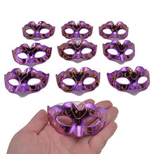 Load image into Gallery viewer, Yiseng Mini Masquerade Masks Party Decorations 10pcs Pack Hand Drawing Gold Plating Mardi gras Small Venetian mask Decor Party Favors