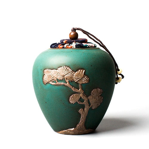 Creative Tea Storage Jar Ceramic Art Tieguanyin Puer Holder