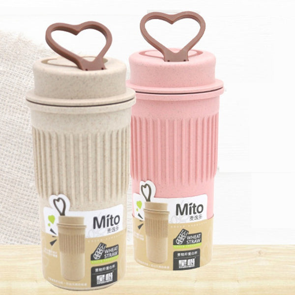 Eco Friendly Wheat Stalk Coffee Travel Mug