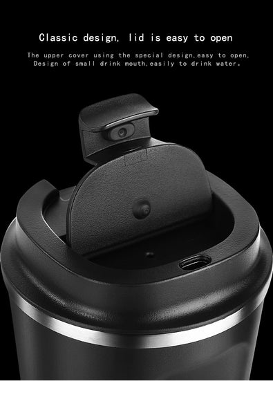 Stainless Steel Thermo Travel Coffee Mug with Lid Car