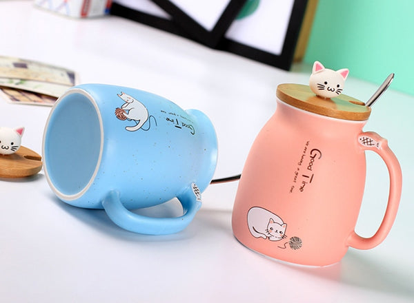 Creative Color Cat Cartoon Heat Resistant Mug