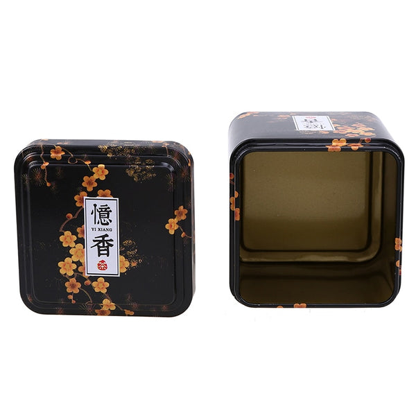 Tea Caddies Iron Tin Box for Candy Biscuit Cookie Chocolate Storage Box