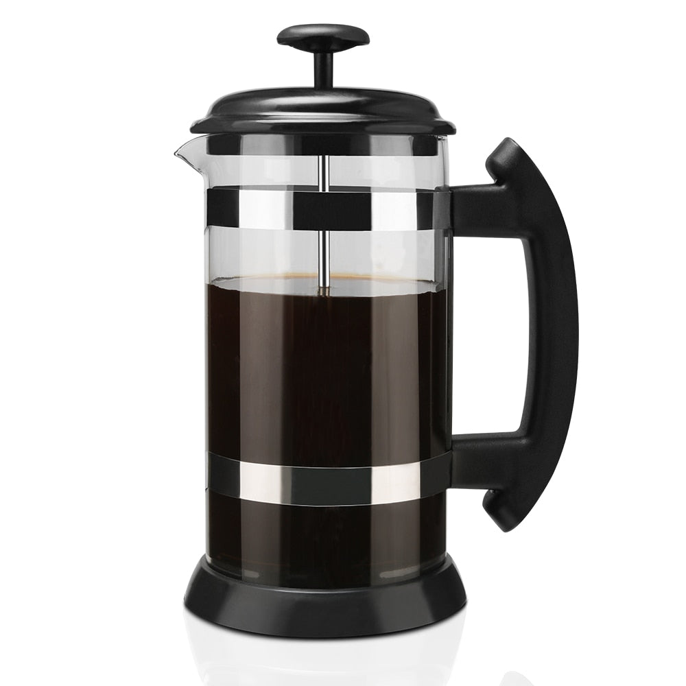 French Press Tea Brewer Pot Coffee Maker Kettle