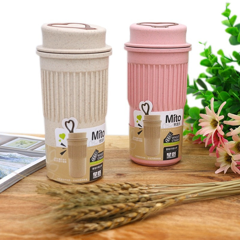 Wheat Straw Travel Portable Coffee Bottle