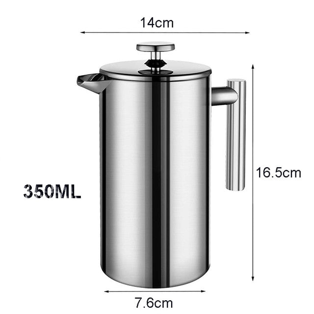 Stainless Steel French Press Espresso Coffee Maker