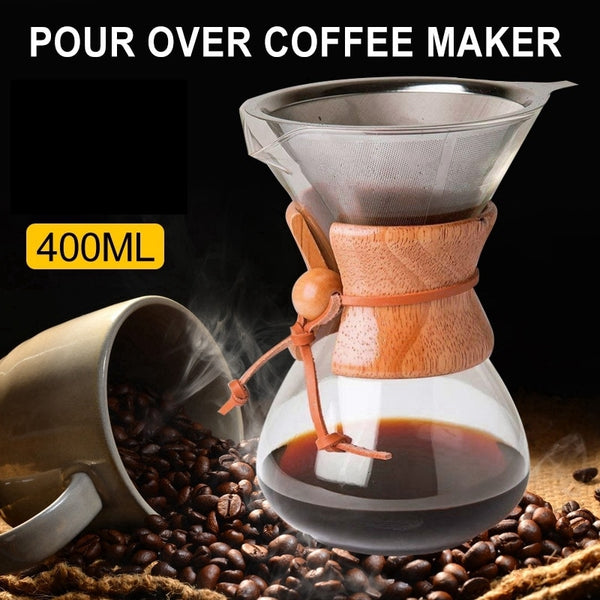 400Ml High Temperature Resistant Glass Coffee Maker