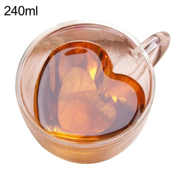 Double Walled Heat Insulated Tumbler Espresso Coffee Mug