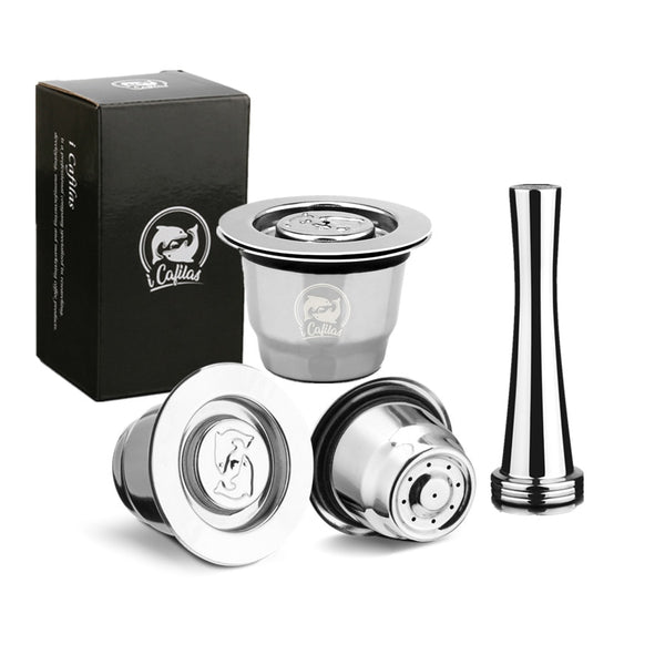 Reutilisable Inox 2 In 1 Usage Refillable Capsule Coffee Filter